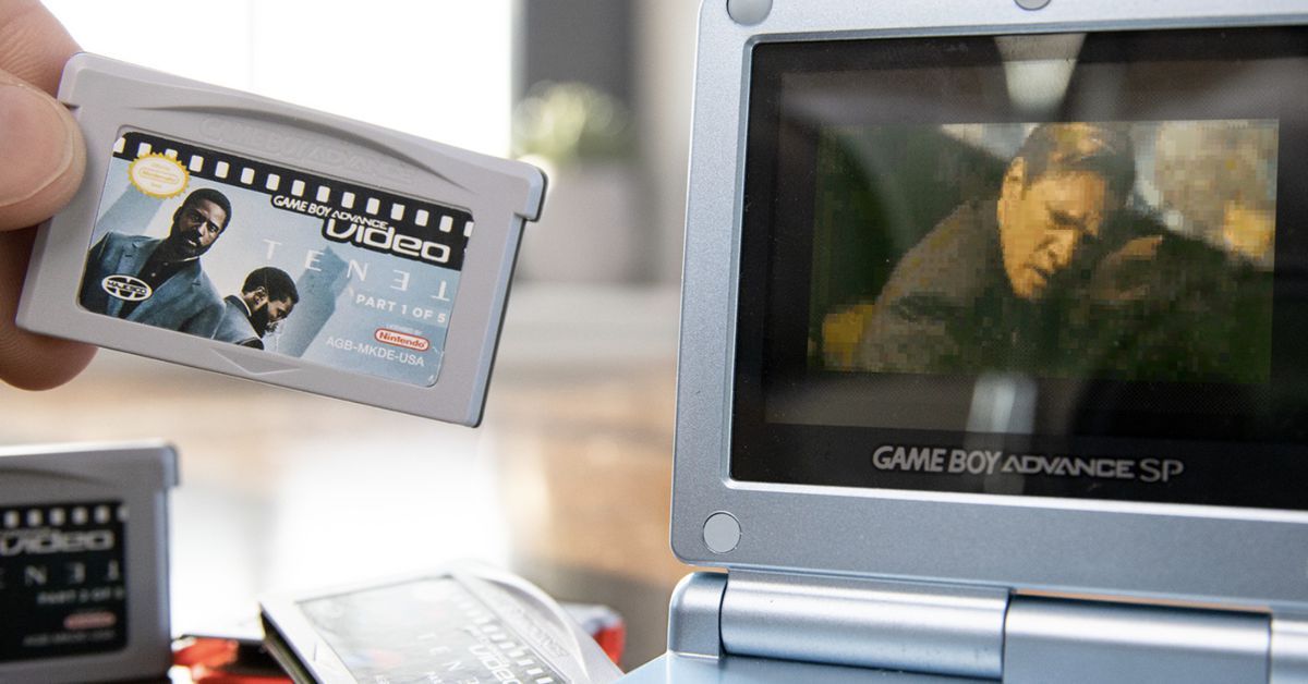 A Game Boy Advance might be the best way to watch Tenet, actually