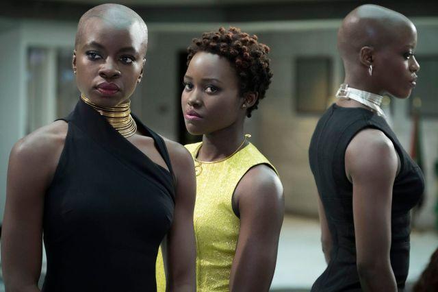 Danai Gurira and Lupita N'yongo in Black Panther.