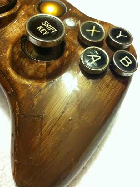 Xbox 360 Steampunk Controller Hits EBay Custom Built With Typewriter Key Analog Sticks Polygon