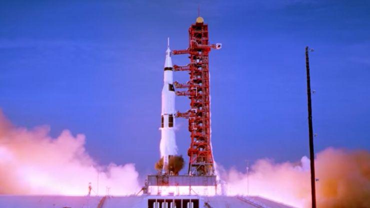 The shuttle launches in Apollo 11.