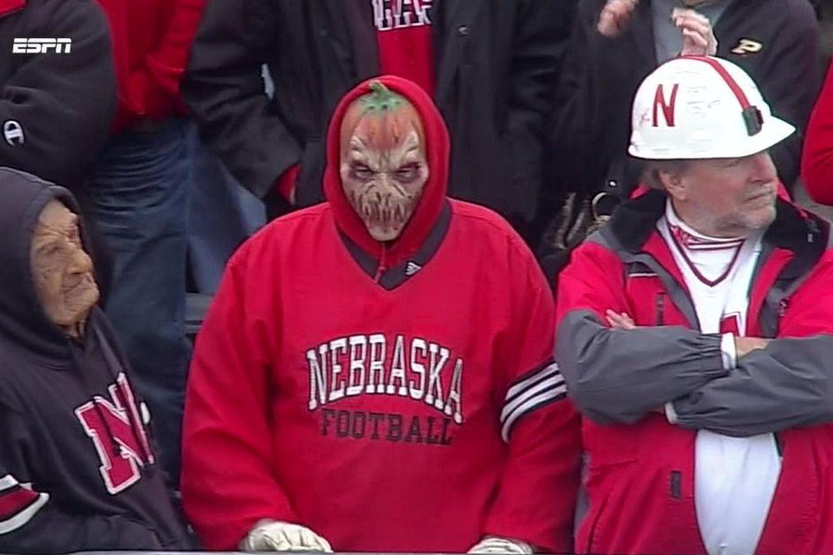nebraska fans are dressed