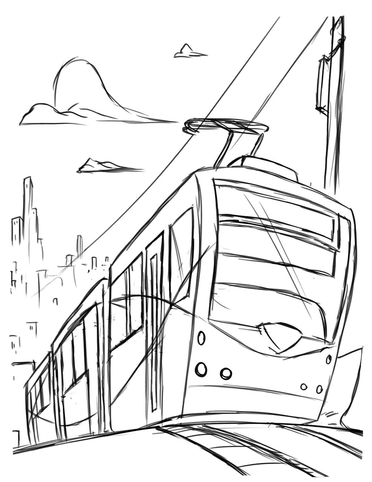 This new coloring book is perfect for transit lovers in D