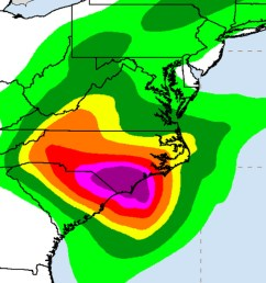 hurricane florence rainfall forecast as of friday morning noaa nwc ncep wpc [ 1200 x 800 Pixel ]