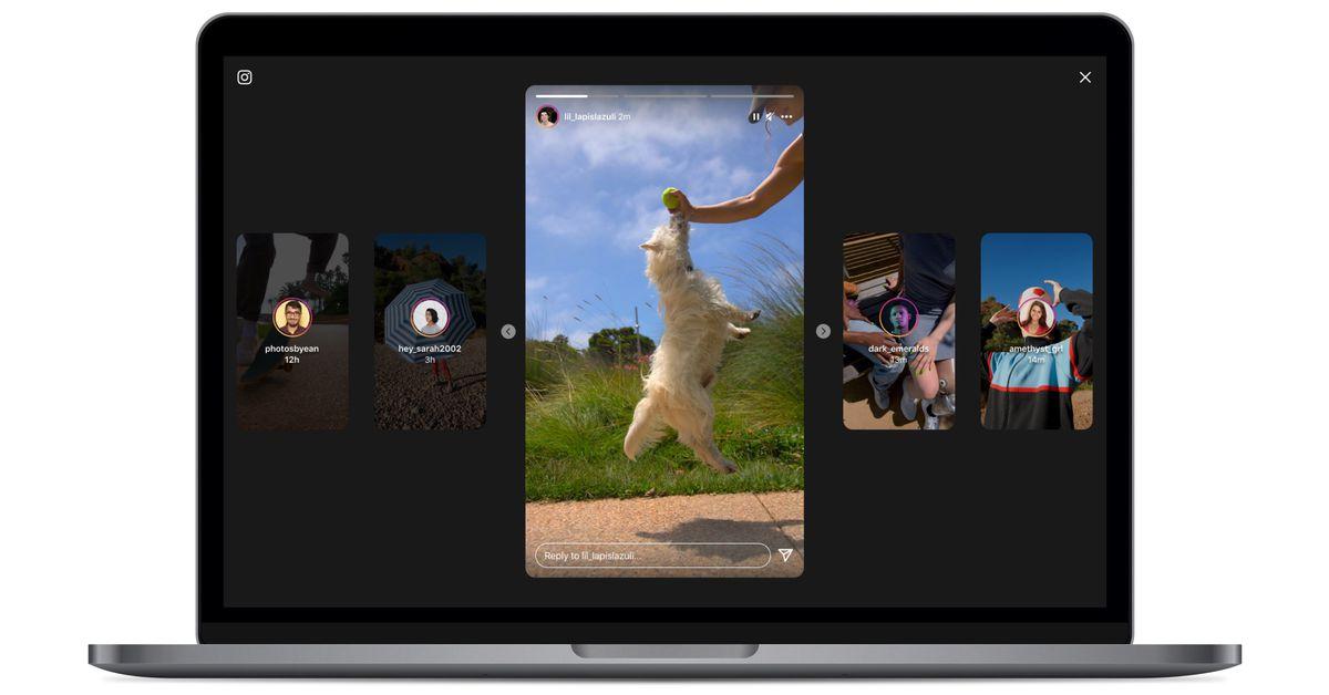 Insta :  Instagram a créé une interface d'histoire plus riche pour les ordinateurs de bureau