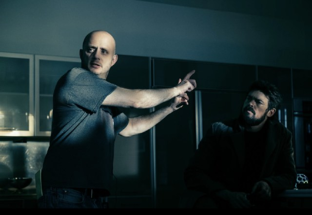 Eric Kripke on The Boys season 2 set with Karl Urban