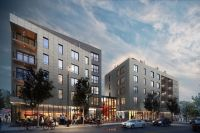 Egleston Square apartment complex construction near Orange