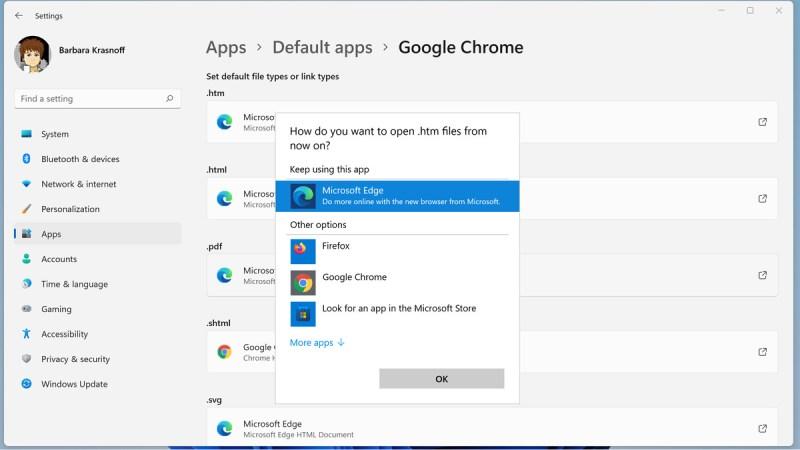 Puoi modificare ogni tipo di file per un'app installata appropriata.