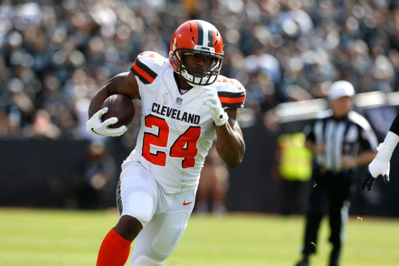 nick chubb 2018 week 7 rookie review