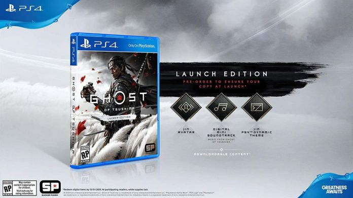 The pre-order bonuses included with Ghost of Tsushima