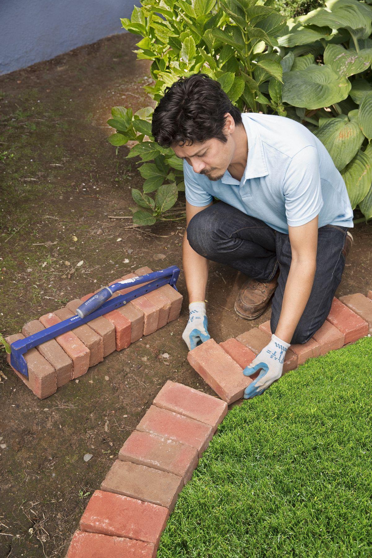 brick garden edging beautify your