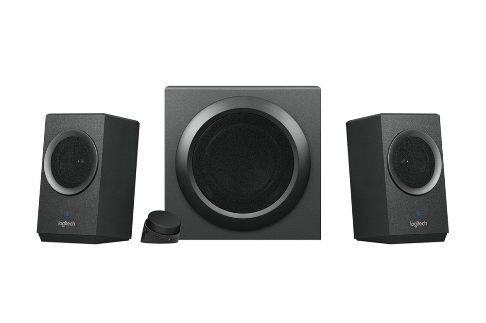 medium resolution of you take two smaller satellite speakers by your monitor one subwoofer to the side and a mess of wires