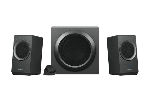 small resolution of you take two smaller satellite speakers by your monitor one subwoofer to the side and a mess of wires