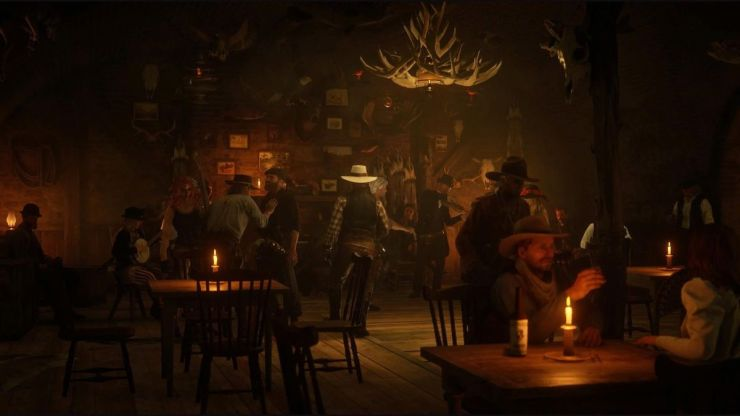 A crowd of players and NPCs converge on the scene of a player with a bar of sunlight.