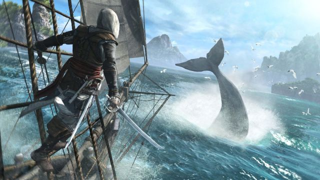 Assassin's Creed 4: Black Flag - Edward Kenway considers stabbing a whale