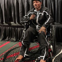 Wheelchair Fight Living Room Chair Slipcovers Timothy Bradley Attends Conference In After