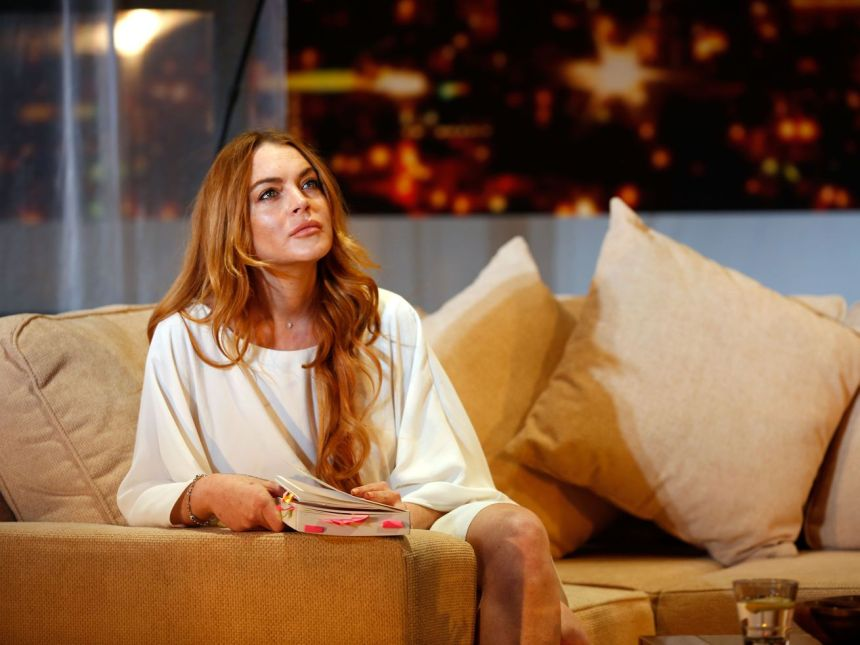 """Lindsay Lohan in 2014. """"I think by women speaking against all these things, it makes them look weak when they are very strong women,"""" Lohan said in a recent interview."""