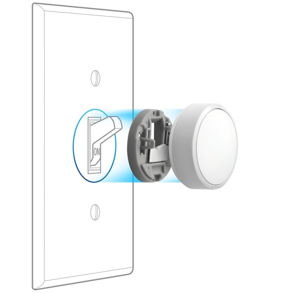 medium resolution of the aurora mounts directly onto standard toggle switches without any wiring needed image lutron