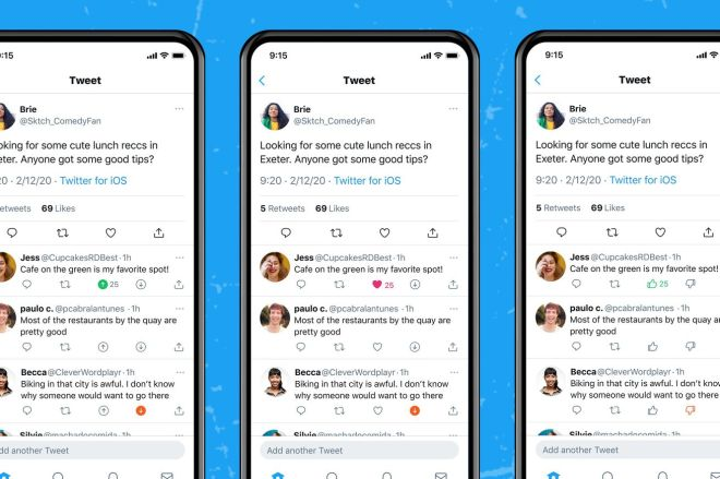 E613I_0WEAQh4r0.0 Twitter is testing upvote and downvote buttons on tweets | The Verge
