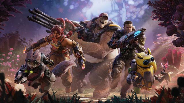 Several characters from Crucible stand next to each other