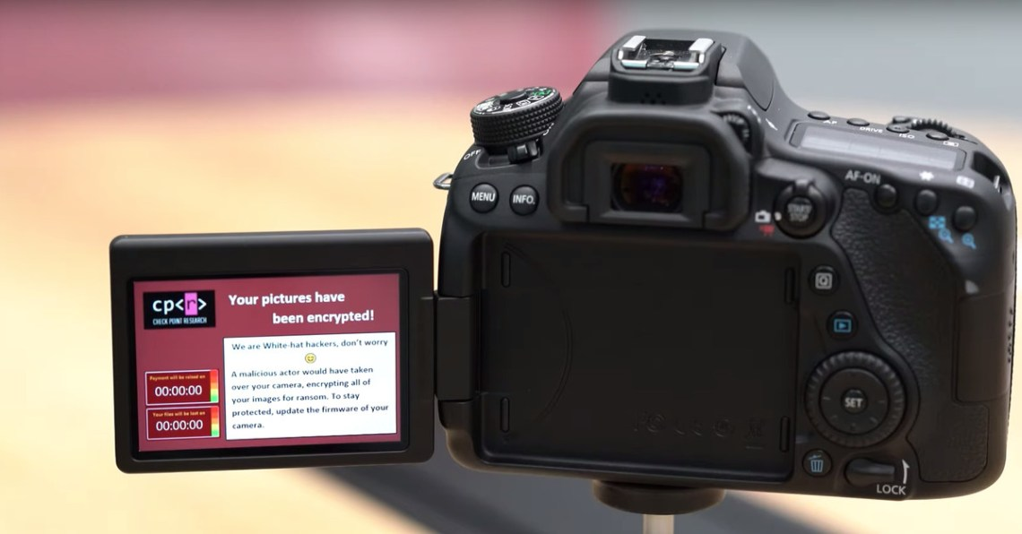 Security researchers find that DSLR cameras are vulnerable to ransomware attack