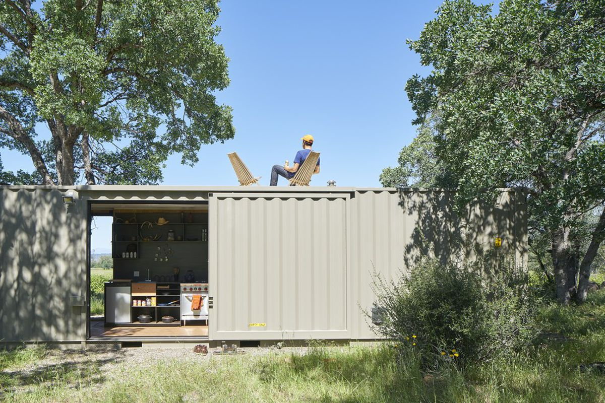 Best Kitchen Gallery: Shipping Container Cabin Goes Off Grid In California Wilderness Curbed of Off Grid Shipping Container Homes  on rachelxblog.com