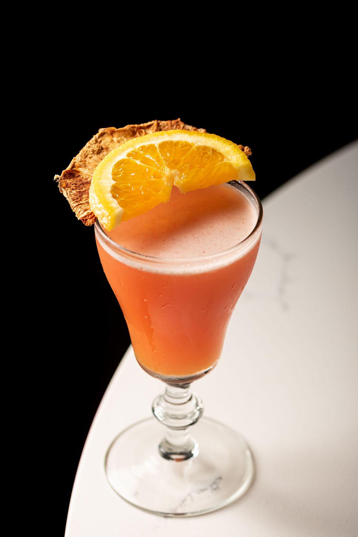 Antioxi-daq: white rum, peach, salted super fruit, cinnamon, lemon at Lanea