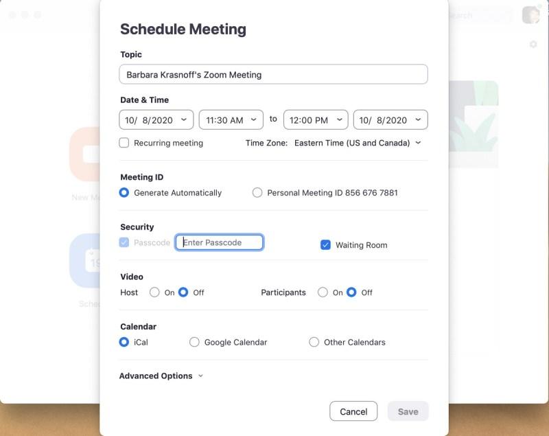 Quando pianifichi una riunione, ottieni una varietà di opzioni per la sicurezza e la notifica.