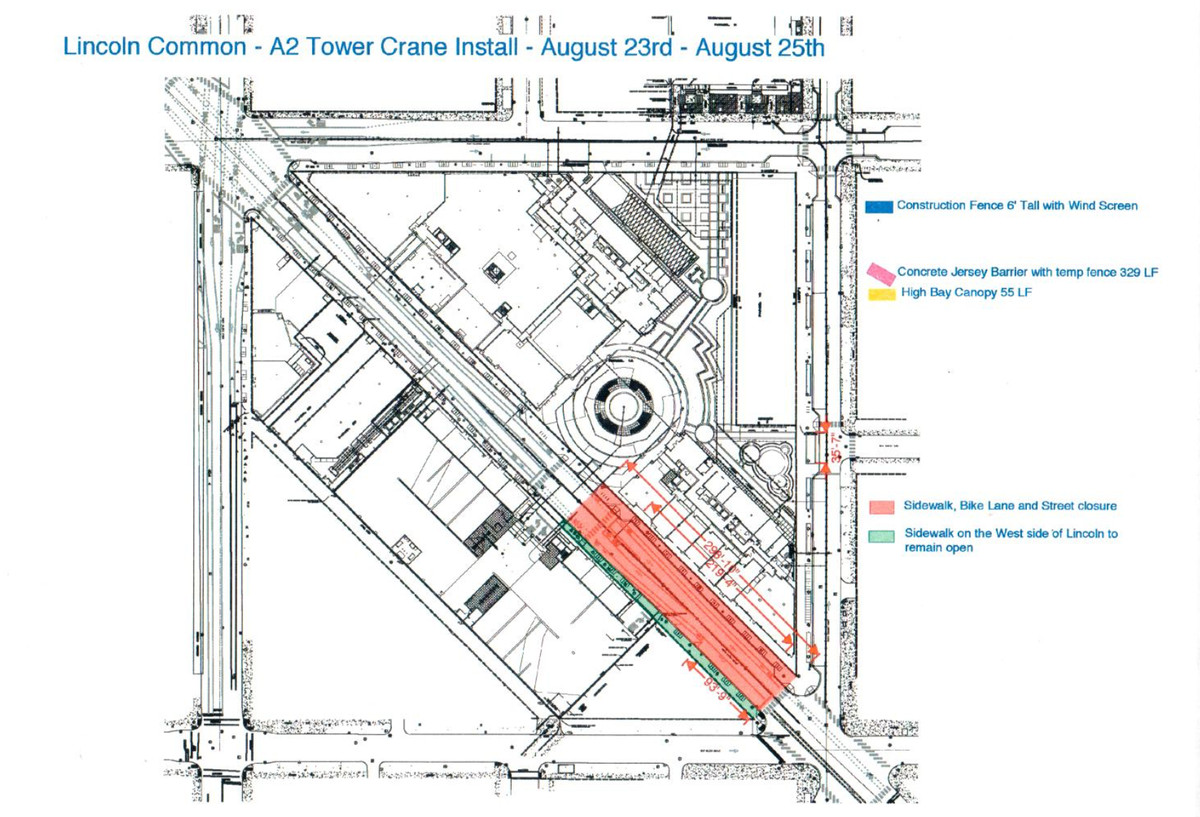 hight resolution of a diagram of the lincoln avenue road closure