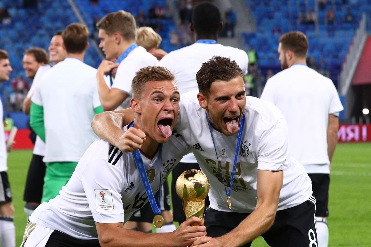Joshua Kimmich and Arturo Vidal clash in Germany's 1-0 Confederations Cup victory - Bavarian Football Works