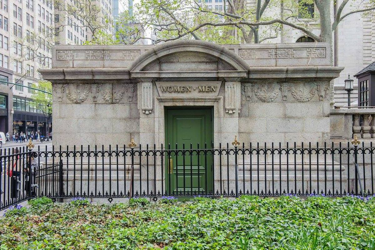 Bryant Parks surprisingly refined public bathroom gets a 280K upgrade  Curbed NY