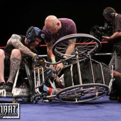 Wheelchair Fight Armless Upholstered Chair Jaon Ellis Vs Mark Zupan From The Feature Film Murderball Won More