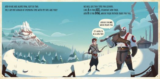 God of War: B is For Boy is an ABCs storybook adaptation of the PS4 exclusive 2