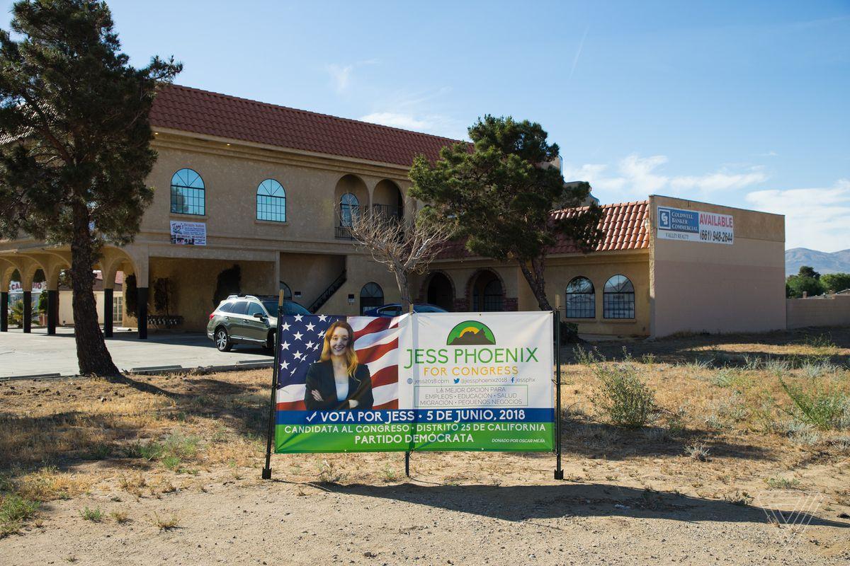 Outside the Phoenix campaign's headquarters.