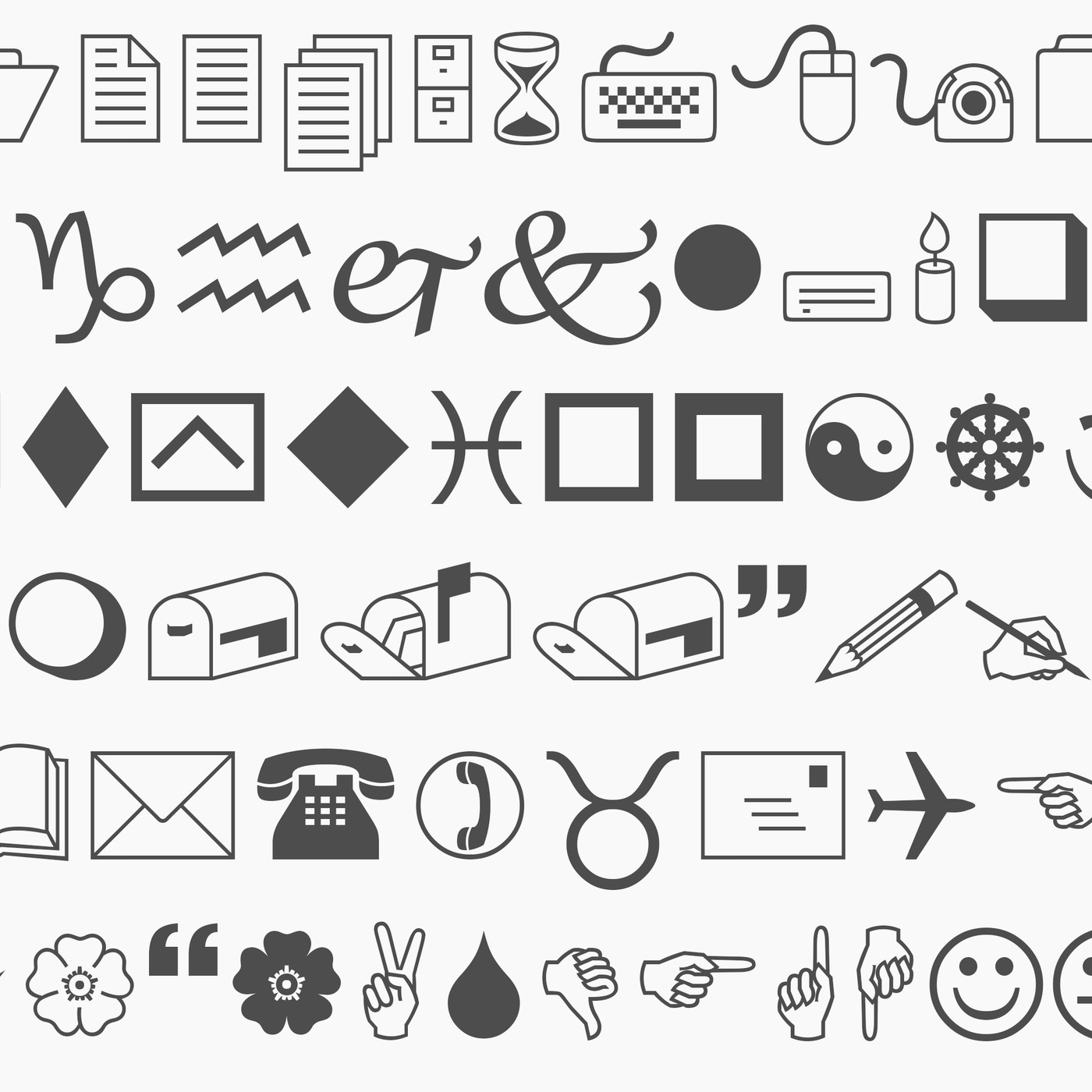 why the wingdings font