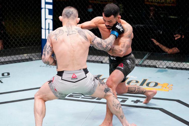 Goodnight Gavin Tucker, courtesy of Dan Ige.   UFC on ESPN 25   Pintsized Interests
