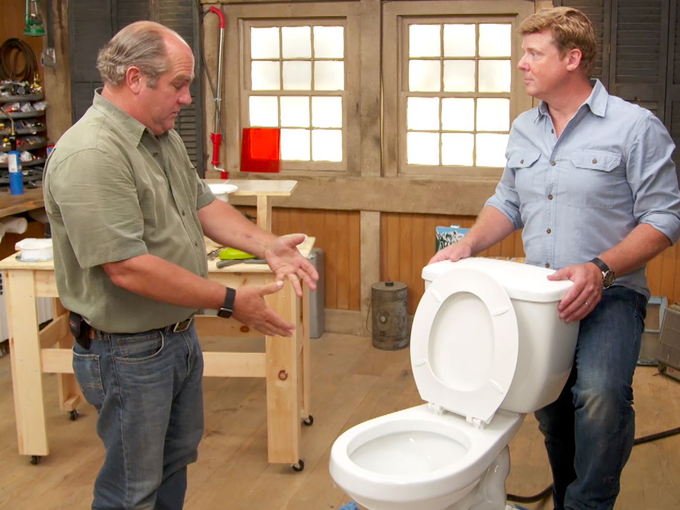 how to fix a gurgling toilet this old