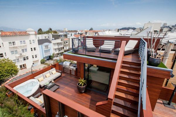 Rooftop Deck with Roof