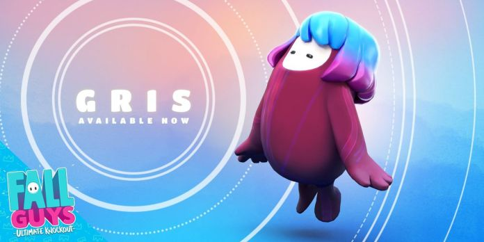 Fall Guys - promotional art for the Fall Guys Gris skin.