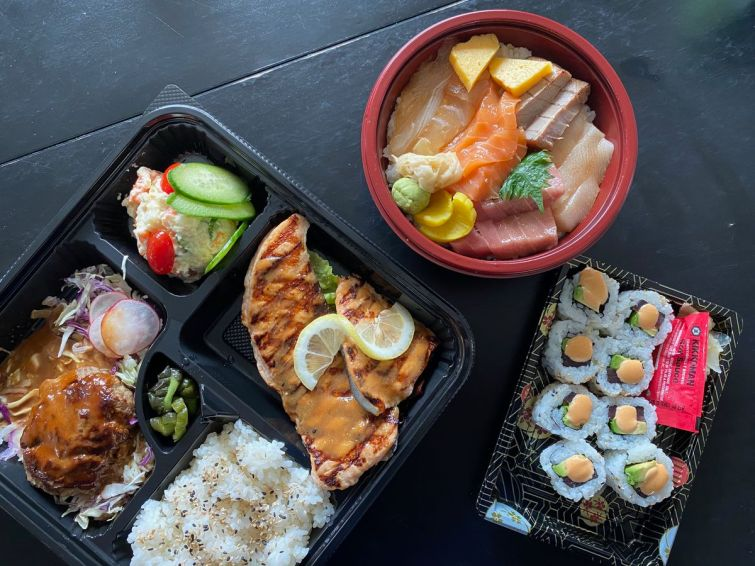 Chirashi bowl and bentos from B-Dama/Berkeley Bowl West
