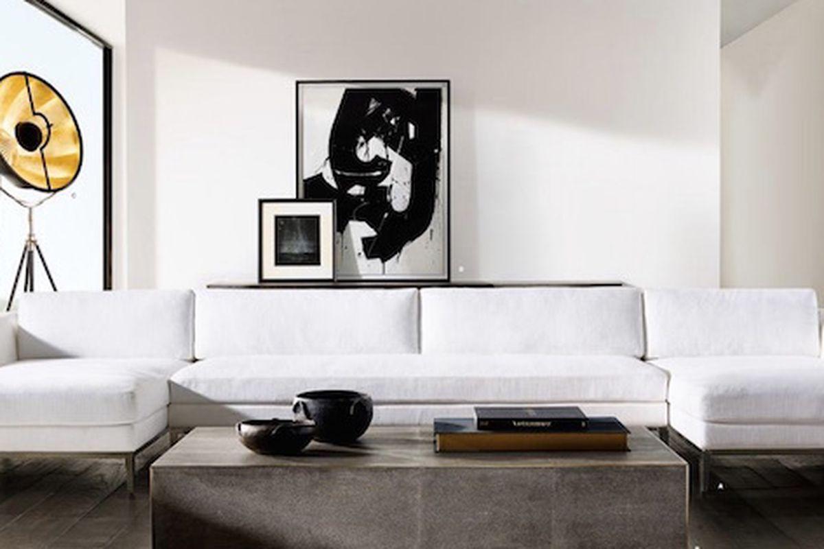 italia sofa rh small single chair restoration hardware ceo talks new minimalist modern line