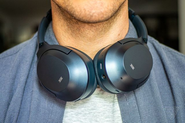 Razer Opus, the best noise-canceling headphones for around $200, worn around the neck.