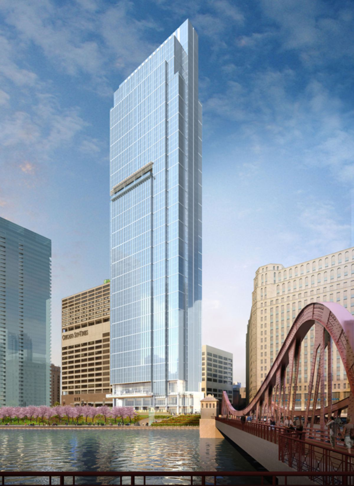 Crews get to work on 60story Wolf Point East tower