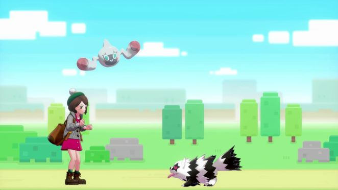 Characters play around in Pokémon Sword and Shield