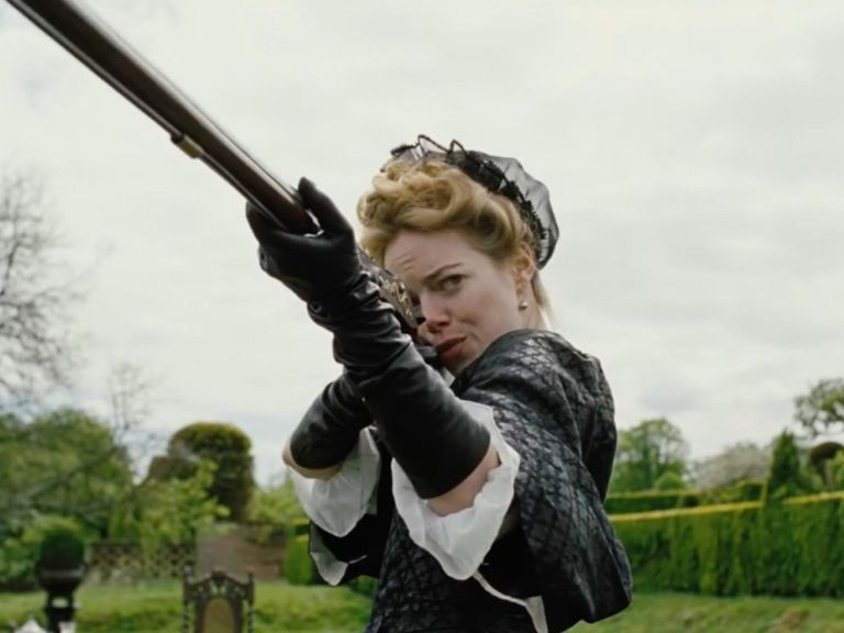 Emma Stone stars along with Rachel Weisz and Olivia Colman in <em>The Favourite.</em>