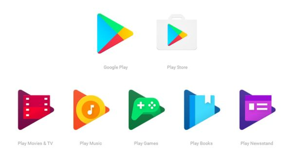 Google Play App Icons Candy-colored Flat Design Treatment - Verge