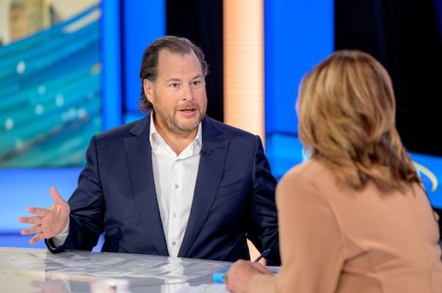 "Salesforce Founder & Co-CEO Marc Benioff Visists ""Mornings With Maria"""
