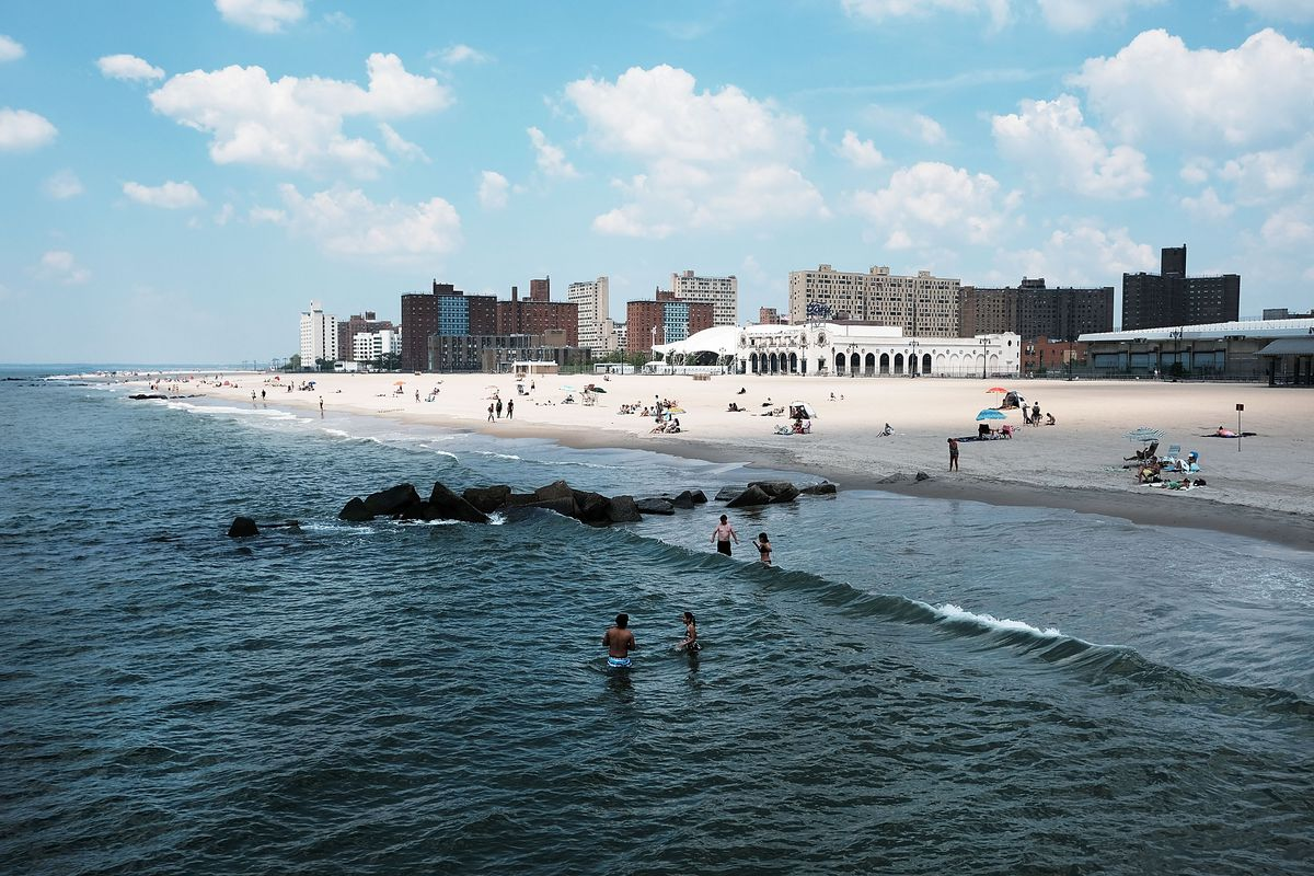 New York beaches and pool will stay open one week later this year  Curbed NY