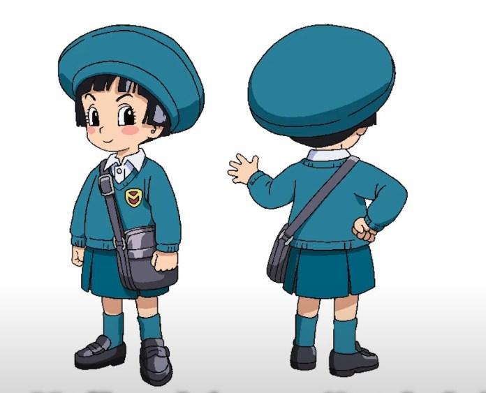 Pan in a kindergarten uniform from Dragon Ball Super: Superhero