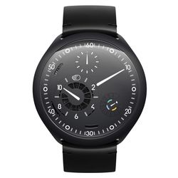 <em>The e-Crown on the bottom right can be tapped to change time zones. </em>