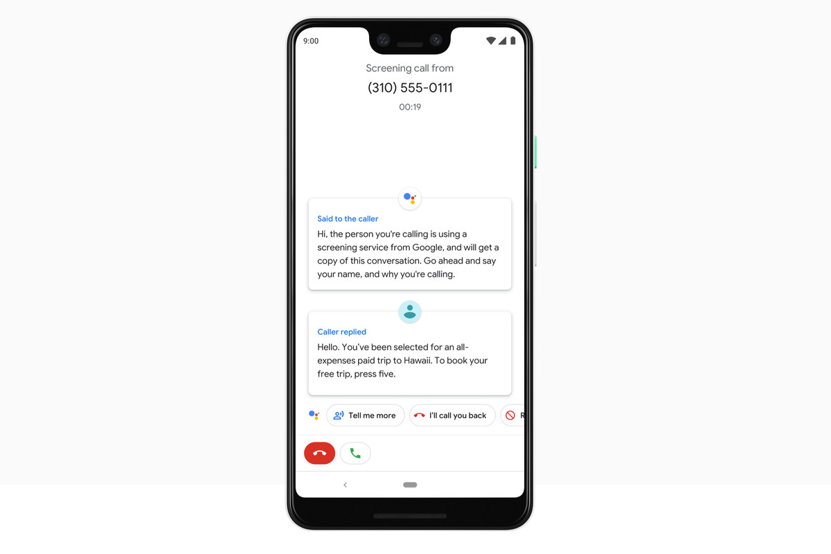 Assistant Will Screen Spam Calls On The Pixel 3